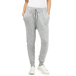 Red Herring Petite - Grey knitted jogging bottoms