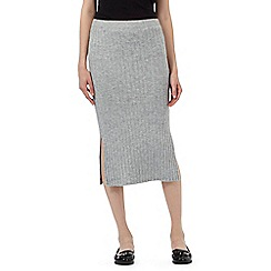Red Herring - Grey knitted longline skirt