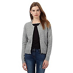 Red Herring - Grey knitted bomber jacket