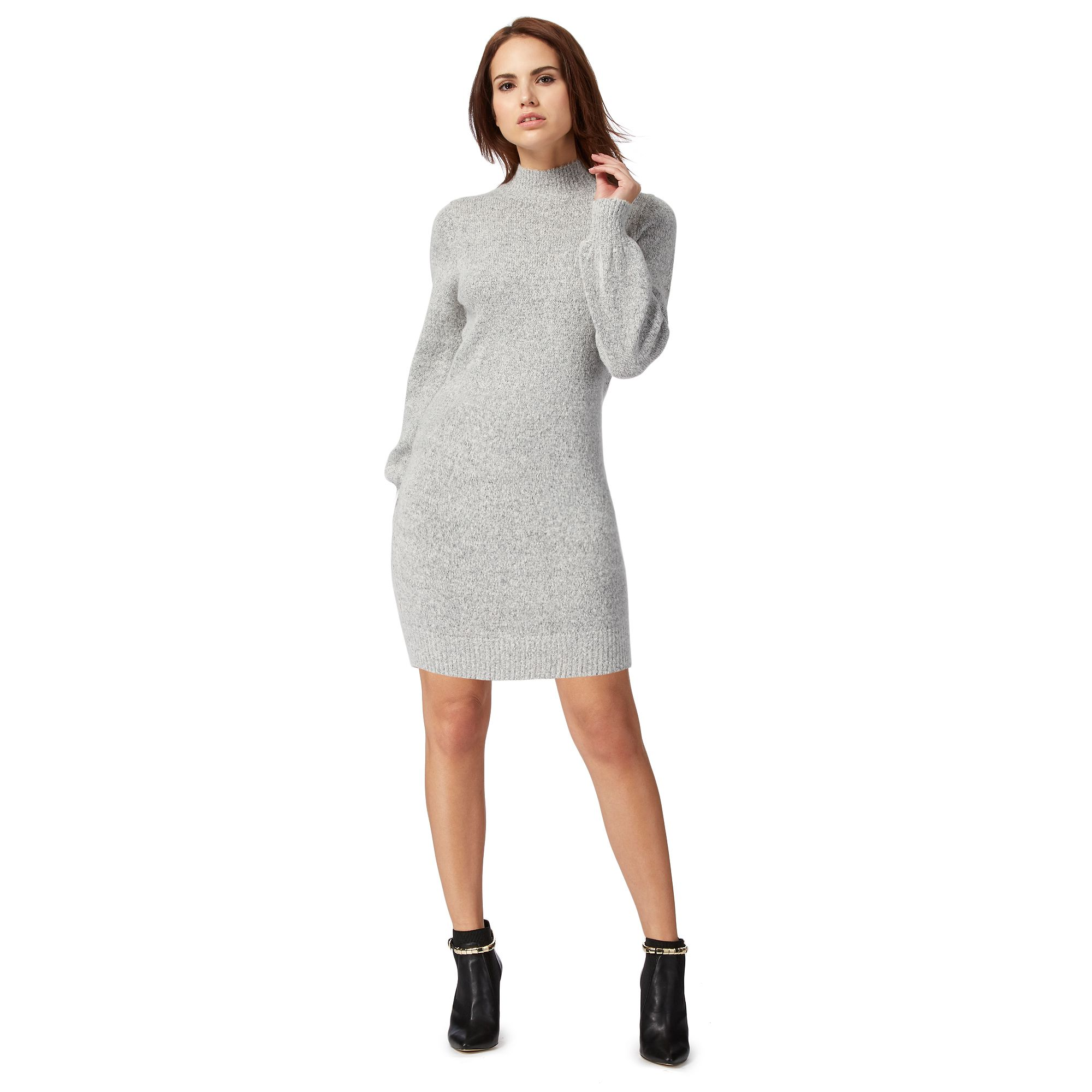 Red Herring Womens Grey Knitted Dress From Debenhams | eBay