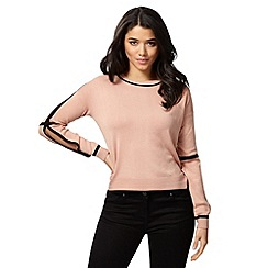 Red Herring - Light pink tipped jumper