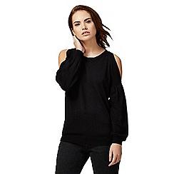 Red Herring - Black split sleeved jumper