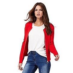 Red Herring - Red bomber cardigan