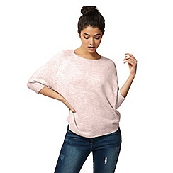 Red Herring - Light pink marl knit jumper