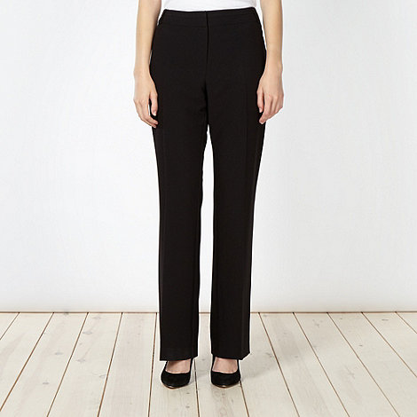 Principles Petite by Ben de Lisi - Designer petite black straight leg suit trousers