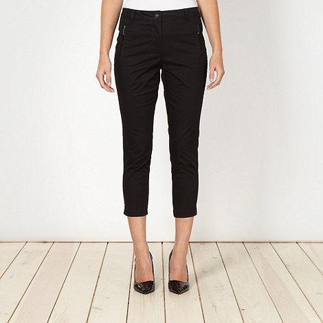 Principles Petite by Ben de Lisi - Petite designer black zip pocket trousers