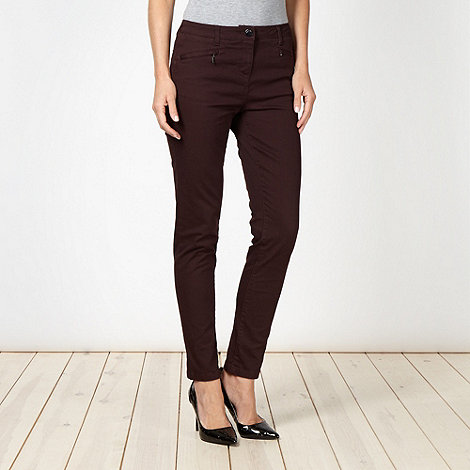 Principles Petite by Ben de Lisi - Designer petite plum slim fit jeans