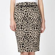 Petite designer natural animal print skirt
