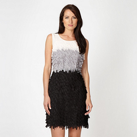Principles Petite by Ben de Lisi - Designer petite black tiered ruffle dress