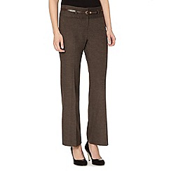 Principles Petite by Ben de Lisi - Chocolate belted trousers
