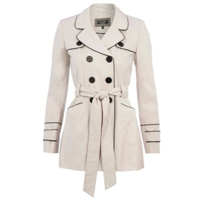 Cashback This light cream short trench coat from Principles Petite ...