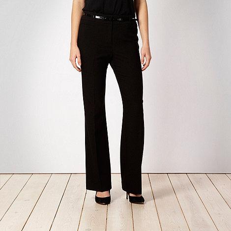 Principles Petite by Ben de Lisi - Petite black belted suit trousers