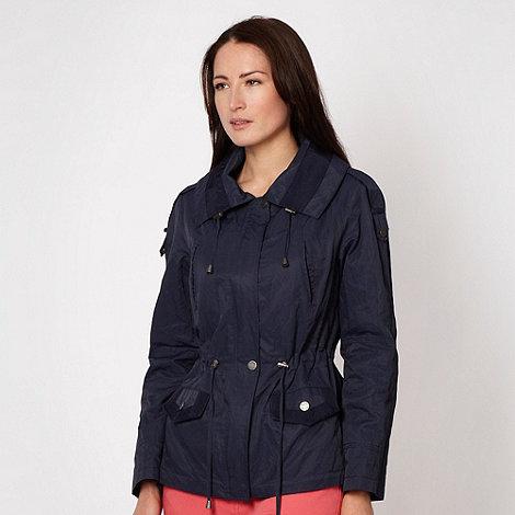 Principles Petite by Ben de Lisi - Petite designer navy short parka jacket