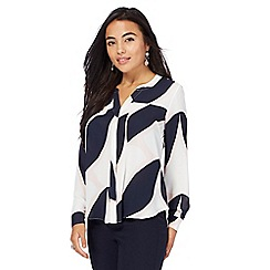 Principles Petite by Ben de Lisi - Multi-coloured printed notch neck petite shirt