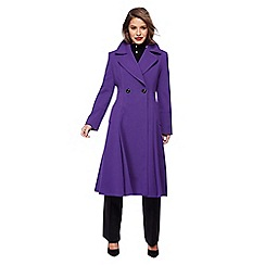 Principles Petite by Ben de Lisi - Purple fit and flare petite coat