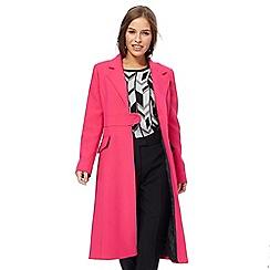 Principles Petite by Ben de Lisi - Bright pink longline petite city coat