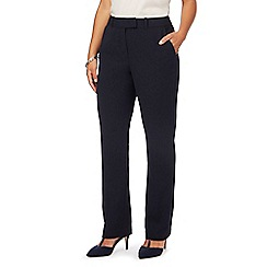 Principles by Ben de Lisi - Navy straight leg trousers