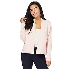 Principles Petite by Ben de Lisi - Light pink edge to edge petite cardigan