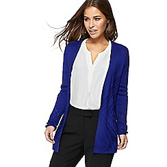 Principles Petite - Blue edge to edge cardigan