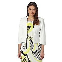 Principles Petite by Ben de Lisi - Designer white textured petite jacket