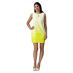 Principles Petite by Ben de Lisi - Designer bright yellow burnout petite dress