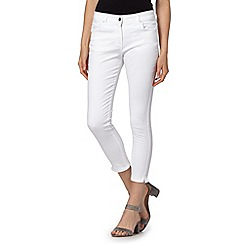 Principles Petite by Ben de Lisi - Designer white cropped skinny petite jeans
