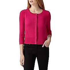 Principles Petite by Ben de Lisi - Designer pink ribbed trims cardigan