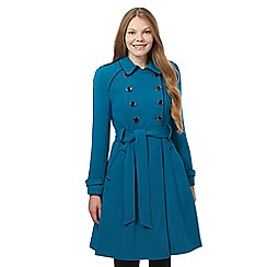 Principles by Ben de Lisi - Blue military flare coat