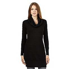 Principles Petite by Ben de Lisi - Black ribbed tunic