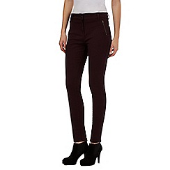 Principles Petite by Ben de Lisi - Dark red zipped pocket slim jeans