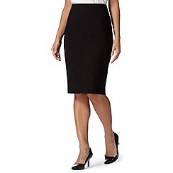 Principles Petite by Ben de Lisi - Designer black origami pencil skirt