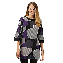 Principles Petite by Ben de Lisi - Designer black abstract spot tunic
