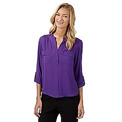Principles Petite by Ben de Lisi - Designer bright purple petite utility shirt
