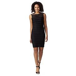 Principles Petite by Ben de Lisi - Designer black shutter tiered jersey dress