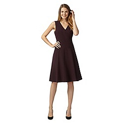 Principles Petite by Ben de Lisi - Designer plum panel suit dress