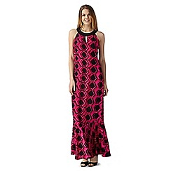 Principles Petite by Ben de Lisi - Bright pink hexagon print maxi dress