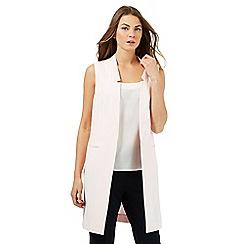 Principles Petite by Ben de Lisi - Light pink longline petite waistcoat