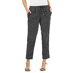 Principles Petite by Ben de Lisi - Black printed trousers