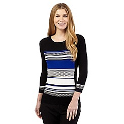 Principles Petite by Ben de Lisi - Black textured stripe jumper