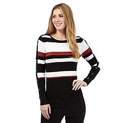 Principles Petite by Ben de Lisi - Black button striped jumper