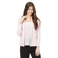 Principles Petite by Ben de Lisi - Pink ribbed trim cardigan