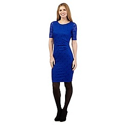 Principles Petite by Ben de Lisi - Blue diamond lace dress