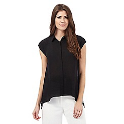 Principles Petite by Ben de Lisi - Black pleated back shirt