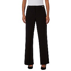 Principles Petite by Ben de Lisi - Black textured bootcut trousers