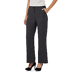 Principles Petite by Ben de Lisi - Grey wide leg textured petite trousers