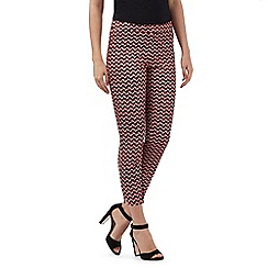Principles Petite by Ben de Lisi - Multi-coloured retro print petite trousers