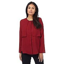 Principles Petite by Ben de Lisi - Dark red flap petite shirt