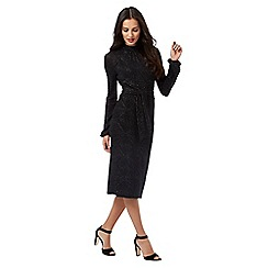 Principles Petite by Ben de Lisi - Black sparkle detail long sleeved dress