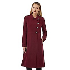 Principles Petite by Ben de Lisi - Dark red button down petite coat