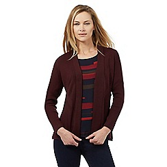 Principles Petite by Ben de Lisi - Dark red edge to edge petite cardigan